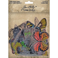 Tim Holtz - Idea-Ology - Transparent Acetate Wings (new version featuring some with color) ( TH93785)