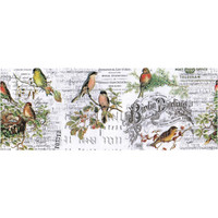 """Tim Holtz - Idea-Ology - Collage Paper 6""""X6 yds - Aviary ( TH93706)"""