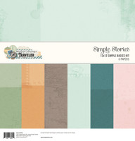 "Simple Stories - Basics Double-Sided Paper Pack 12""X12"" 6/Pkg (SVT10724)"