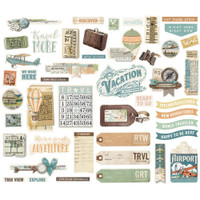 Simple Stories -Bits & Pieces Die-Cuts 46/Pkg - Simple Vintage Traveler (10461)