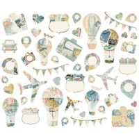 Simple Stories -Bits & Pieces Die-Cuts Ephemera 46/Pkg - Simple Vintage Traveler (10467)