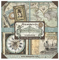 Stamperia - Scrapbooking 12 x 12 Collection Pack - Voyages Fantastiques/22Pkg ( SBBXL01)