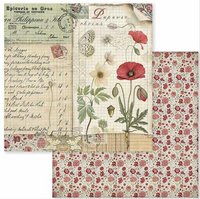 Stamperia - Double-Sided Cardstock 12x12 - Spring Botanic - Poppy & Butterfly (SBB586)