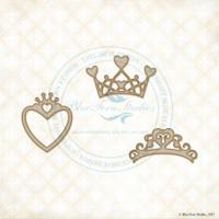 Blue Fern Studios - Chipboard - Heart Crowns (235961)