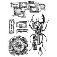 "Stamperia - Stamperia Cling Stamp 5.90""X7.87"" - Time Machine (WTKAT01)"