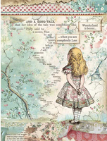 Stamperia - Decoupage Rice Paper A4 - Alice Collection - Alice ( DFSA4349)