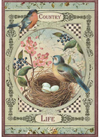 Stamperia - Decoupage Rice Paper A4 - Country Life Birds (DFSA4352)