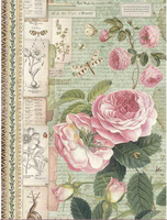 Stamperia - Decoupage Rice Paper A4 -English Roses & Snail ( DFSA4359)