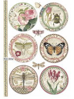 Stamperia - Decoupage Rice Paper A4 - Spring Botanic - Botanic Rounds (DFSA4362)