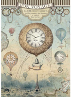 Stamperia - Decoupage Rice Paper A4 - Voyages Fantastiques - Balloon (DFSA4370)