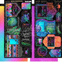 "Graphic 45 - Tags & Pockets Cardstock Die-Cuts 6""X12"" Sheets 2/Pkg - Kaleidoscope (G4501858)"