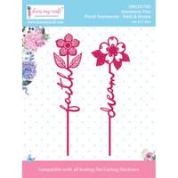 Dress My Crafts - Floral Sentiment Dies - Faith & Dream (DMCD1782)