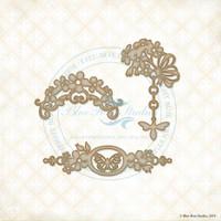Blue Fern Studios - Chipboard - Spring Trinkets (997517)