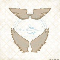Blue Fern Studios - Chipboard - Spread Your Wings (274206)