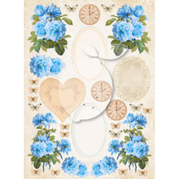 LemonCraft - Vintage Time Decorative Paper - Tags and Cut Aparts - Sense And Sensibility (LP-VT039)