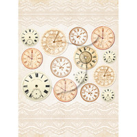 LemonCraft - LemonCraft - Vintage Time Decorative Paper - Tags and Cut Aparts - Vintage Time 035 (LP-VT035)