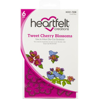 Heartfelt Creations - Cherry Blossom Retreat - Cut & Emboss Dies - Tweet Cherry Blossoms (HCD17230)