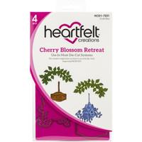 Heartfelt Creations - Cling Rubber Stamp Set - Cherry Blossom Retreat (HCPC3867)