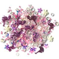 28 Lilac Lane / Buttons Galore : Sparkletz Embellishment Pack 10g - Pink Flamingo (SPK - 130)