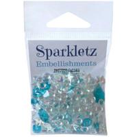 28 Lilac Lane / Buttons Galore : Sparkletz Embellishment Pack 10g - Salt Water (SPK - 105)