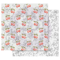 Prima - Double sided 12x12 Cardstock Paper - Fruit Paradise - Cherry Galore (849122)