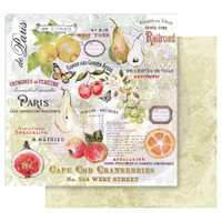 Prima - Double sided 12x12 Cardstock Paper - Fruit Paradise - The Special (849115)