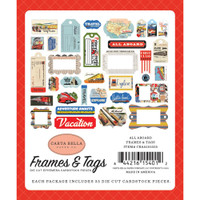 Carta Bella - Frames and Tags 33/Pkg - All Aboard (AA101025)