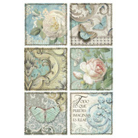 Stamperia - Decoupage Rice Paper A4 - Azulejos Collection - Azulejos Cards (DFSA4384)