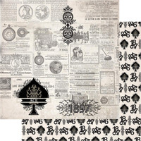 """Couture Creations - Gentleman's Emporium - Double-Sided Paper 12""""X12"""" - No6 (CO726819)"""