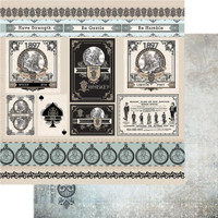 """Couture Creations - Gentleman's Emporium - Double-Sided Paper 12""""X12"""" - No12 (CO726825)"""