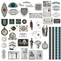 Couture Creations - Gentleman's Emporium - Diecut Ephemera Set (CO726826)