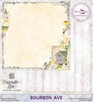 Blue Fern Studios - Courtship Lane 12x12 dbl sided paper - Bourbon Ave (112478)