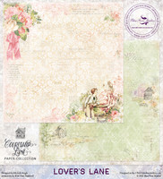Blue Fern Studios - Courtship Lane 12x12 dbl sided paper - Lovers Lane (112072)