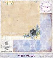 Blue Fern Studios - Courtship Lane 12x12 dbl sided paper - West Plaza (112379)