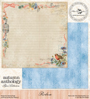 Blue Fern Studio - Autumn Anthology 12x12 dbl sided paper - Robin (074370)