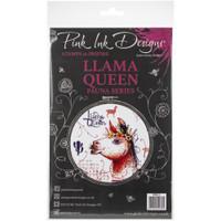 Pink Ink Designs - A5 Clear Stamp Set - Llama Queen (PI013)