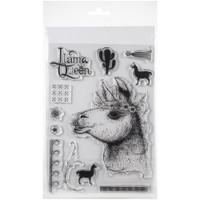 Pink Ink Designs - A5 Clear Stamp Set - Llama Queen (PI013)