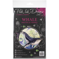 Pink Ink Designs - A5 Clear Stamp Set - Whale (PI020)