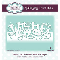 Creative Expressions - Cathie Shuttleworth - Paper Cuts Edger Craft Dies - With Love (CEDPC066)