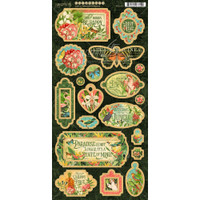 """Graphic 45 - Decorative & Journaling Chipboard Die-Cuts 6""""X12"""" Sheet - Lost In Paradise (G4501895)"""