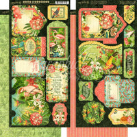 Graphic 45 - Decorative & Journaling Tags & Pockets - Lost In Paradise (G4501898)