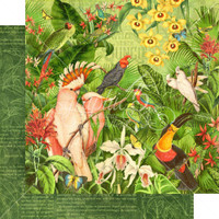 Graphic 45 - 12x12 Double Sided Paper- Lost In Paradise - Welcome To The Jungle (LIP450 1888)