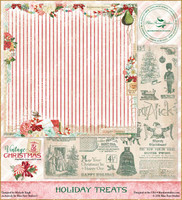 Blue Fern Studios - Vintage Christmas 2 - 12x12 dbl sided paper - Holiday Treats (BFVC2 142376)
