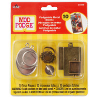 Plaid Craft - Mod Podge - Podgeable Metal Blanks 10/Pkg