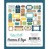 Echo Park- Cardstock Frames and Tags 33/Pkg - Summer Adventure (SA180025)