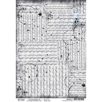 Ciao Bella - Decoupage Rice Paper Sheet - Loving In The Rain Collection - Melody Of Rain (CBRP010)