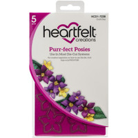 """Heartfelt Creations - Cut and Emboss Dies 1.5"""" To 3"""" - Purr-Fect Posies (HCD17238)"""