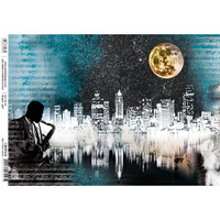 Ciao Bella - Decoupage Rice Paper Sheet - Jazz Club Collection - New York Mood (CBRP035)