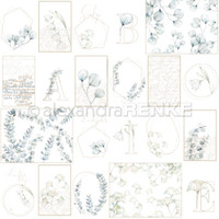 Alexandra Renke - Spring Design Paper 12x12 - Blue Flower Card Sheet (101320)