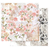 Prima Marketing - Double sided 12x12 Paper w/Foil Accents - Apricot Honey - Sweet Apricot (APIC12 49221)